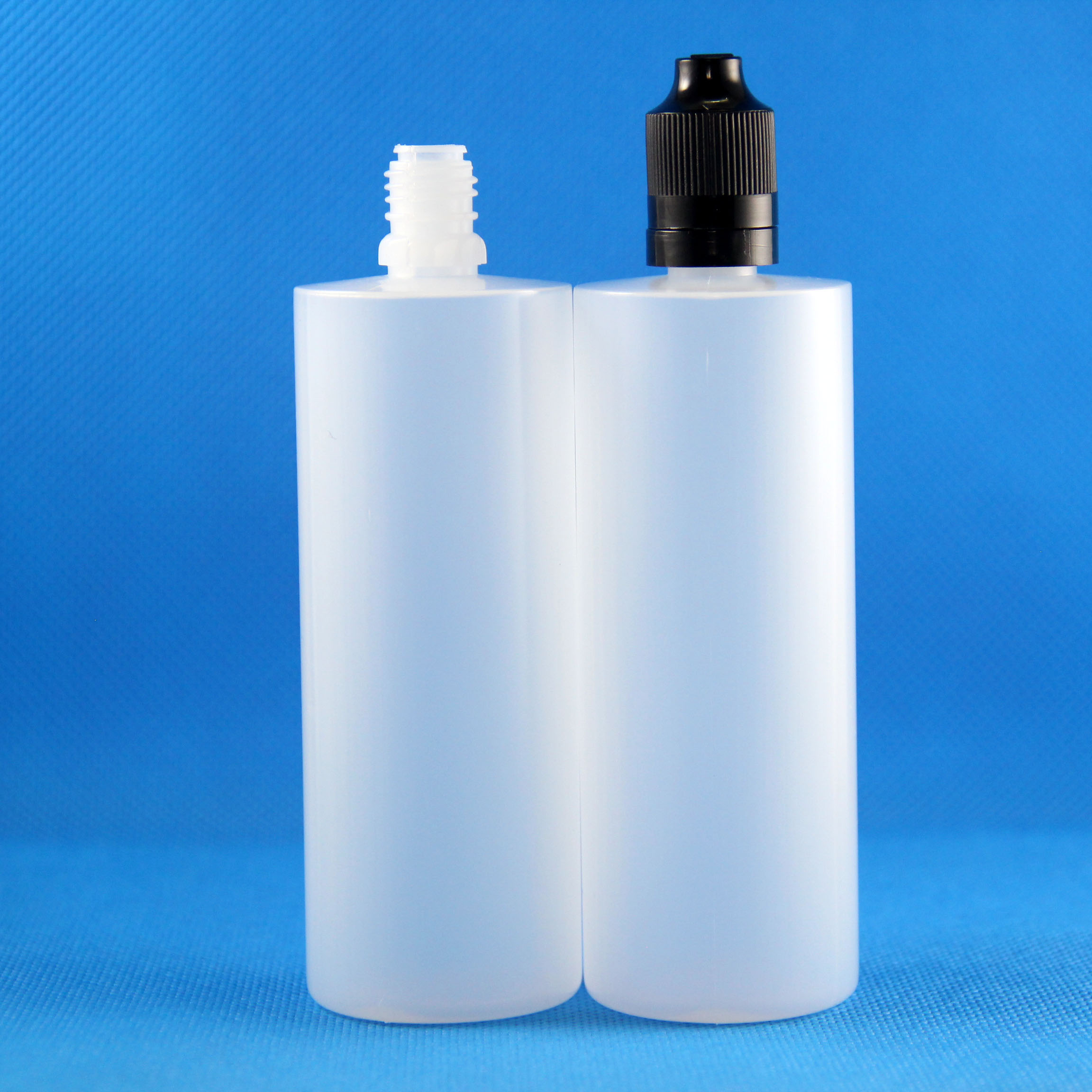 100 120ML LDPE Plastic Dropper Bottles Child & Tamper Proof caps